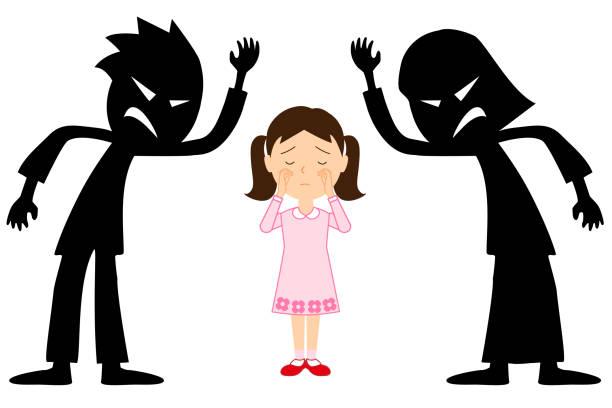 image of child abuse. - child abuse stock illustrations