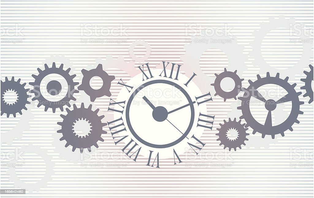 Image of clock with set of gears representing time royalty-free image of clock with set of gears representing time stock vector art & more images of abstract