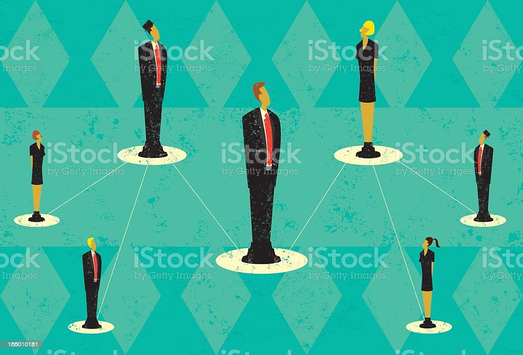 Image of connections among team members royalty-free stock vector art