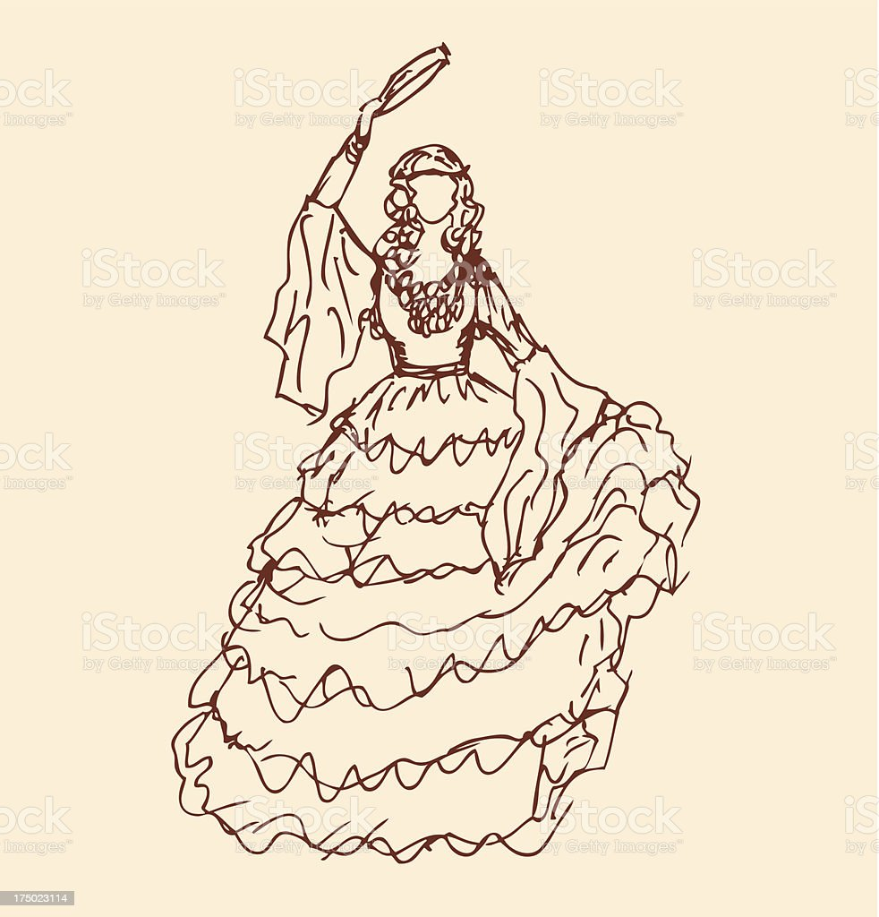 Image of dancing woman in retro clothes