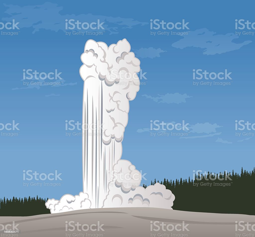 Image of geyser phenomenon coming from the earth royalty-free stock vector art
