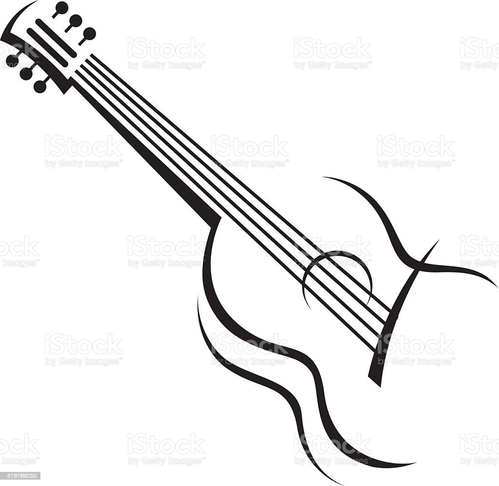image of guitar stock vector art more images of abstract 519789250 rh istockphoto com bass guitar vector art bass guitar vector art