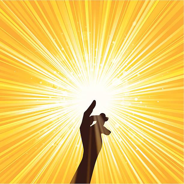 bildbanksillustrationer, clip art samt tecknat material och ikoner med image of hand spreading yellow light - hand tänder ett ljus