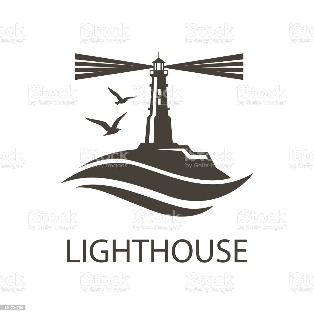 image of lighthouse vector art illustration
