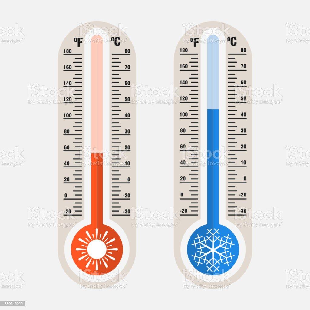 Bilden Av Meteorologiska Termometrar Mätning Av Värme Och Co vektorgrafik och fler bilder på Arbetsverktyg