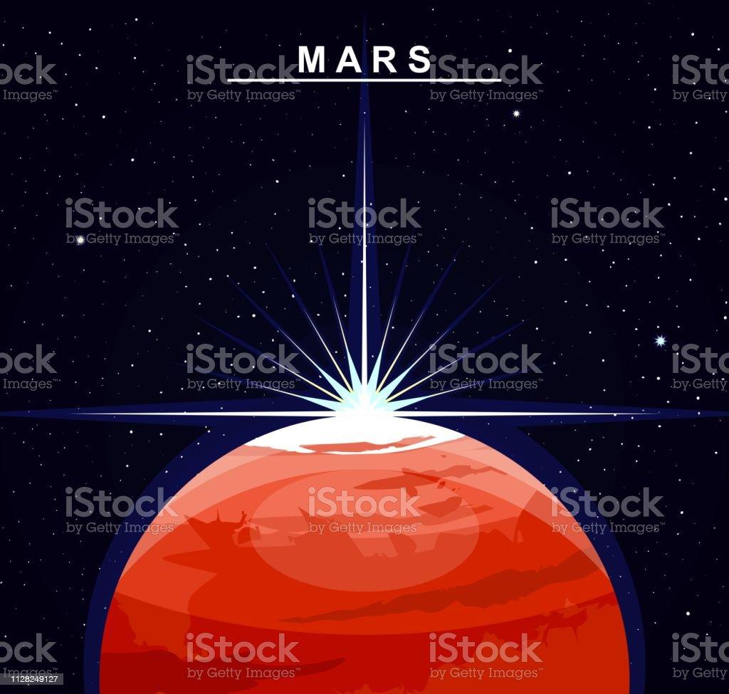 Ilustración de Imagen Del Planeta Marte El Cuarto Planeta ...