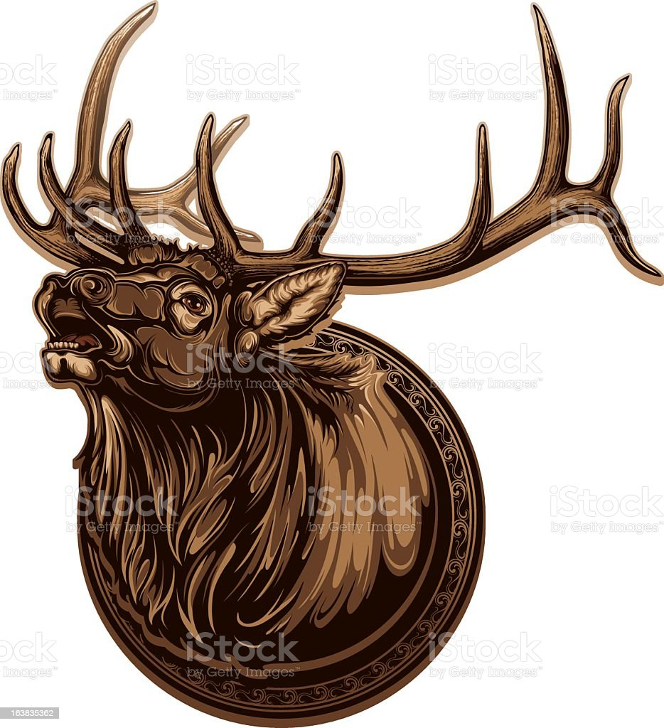 Image of vivid bull elk with long antlers royalty-free image of vivid bull elk with long antlers stock vector art & more images of animal