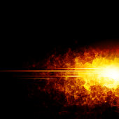 Image portraying fire for use in web design, etc.