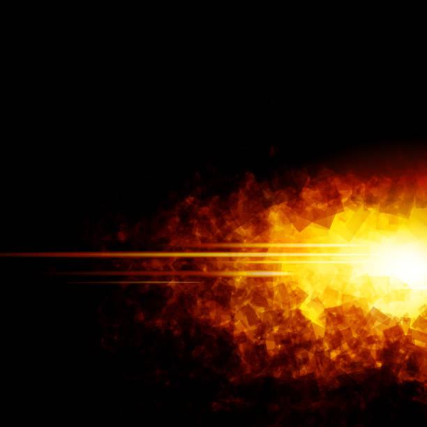 火災 - 光 黒背景点のイラスト素材/クリップアート素材/マンガ素材/アイコン素材