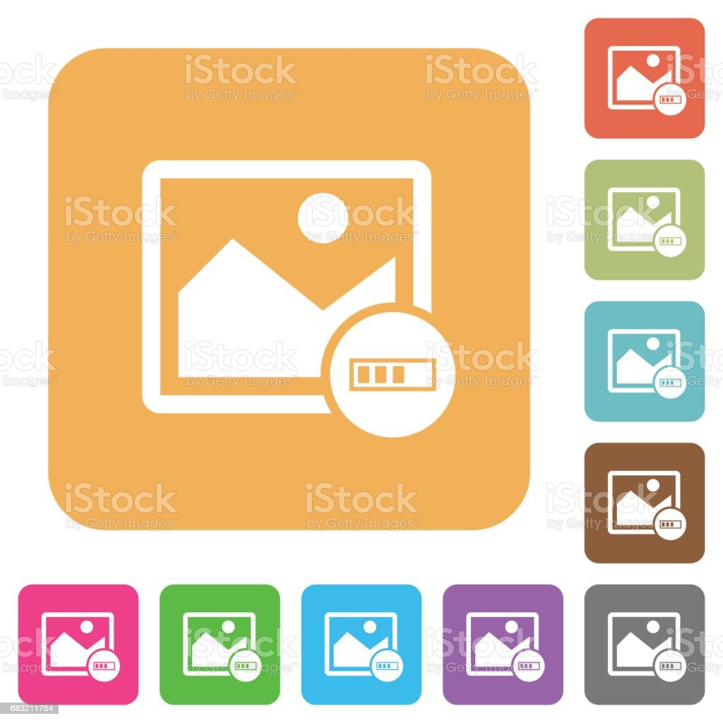 Image processing rounded square flat icons 免版稅 image processing rounded square flat icons 向量插圖及更多 一個物體 圖片