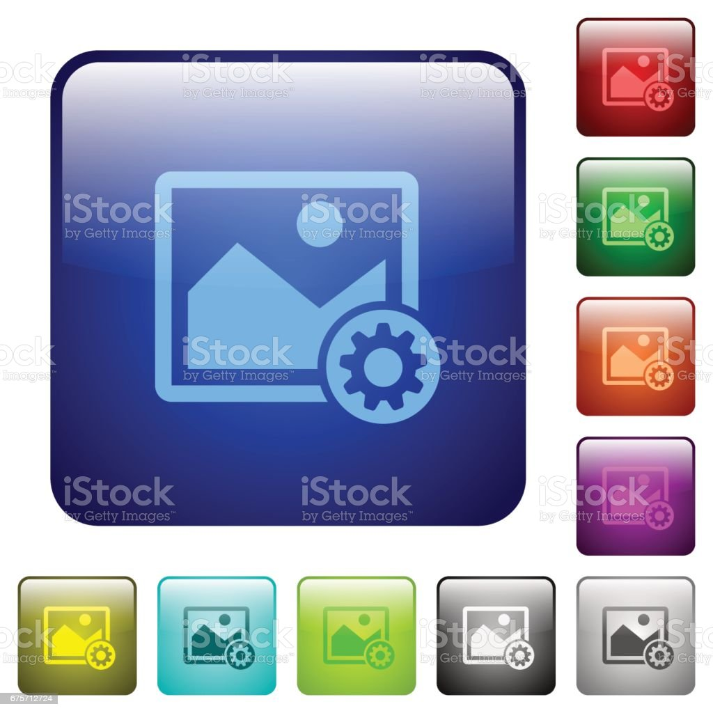 Image settings color square buttons royalty-free image settings color square buttons stock vector art & more images of applying
