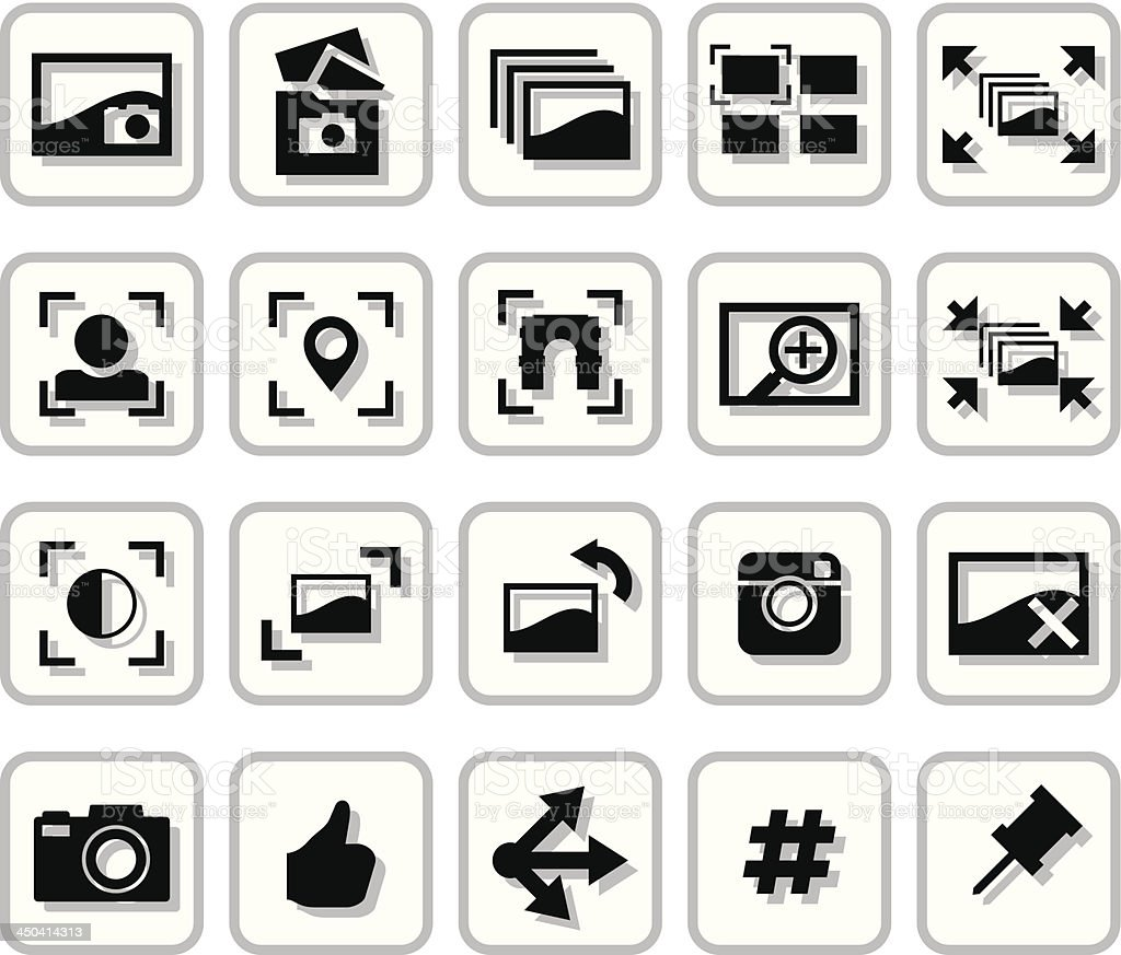 Image Sharing Icons royalty-free image sharing icons stock vector art & more images of black color