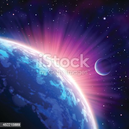 istock Image Taken from a satellite showing the suns rays 452215889