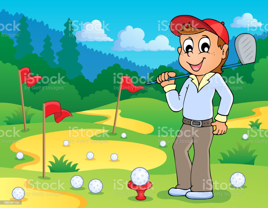 Image with golf theme 3 royalty-free stock vector art