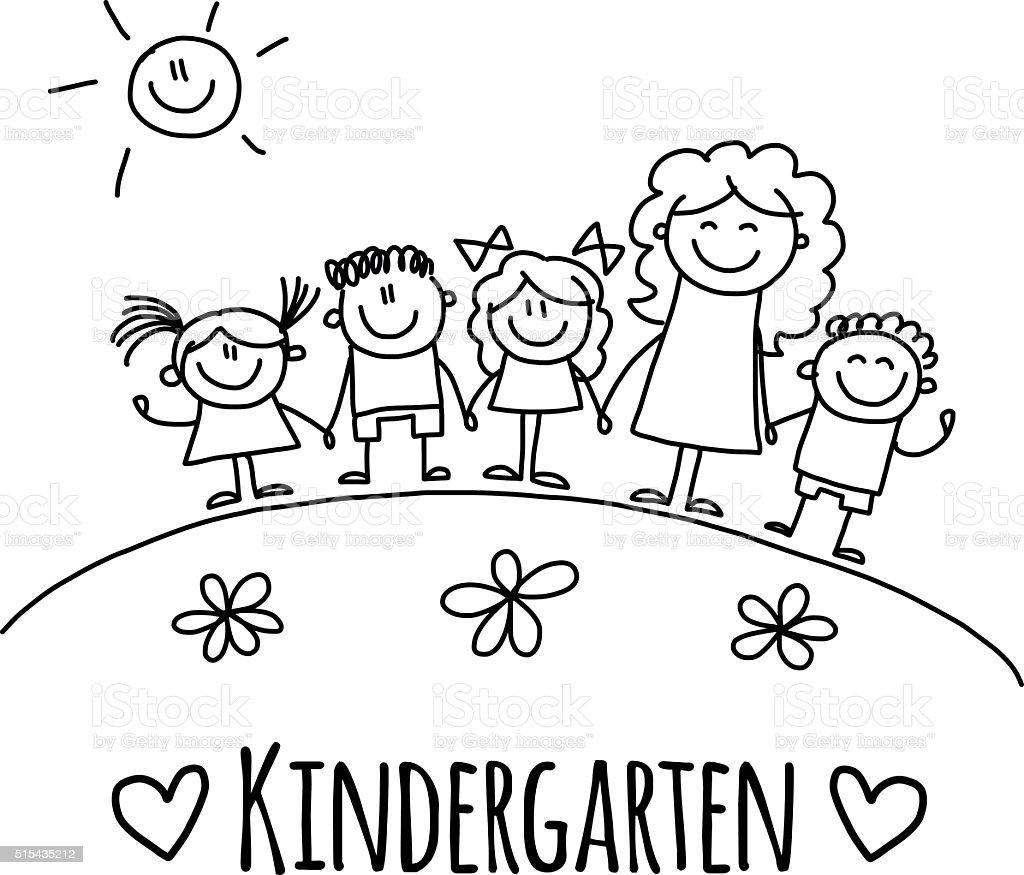 royalty free kindergarten teacher clip art vector images rh istockphoto com kindergarten clipart black and white kindergarten clipart png