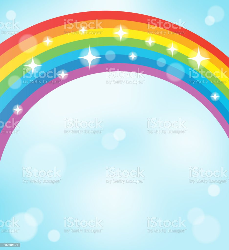 Image with rainbow theme 5 royalty-free stock vector art