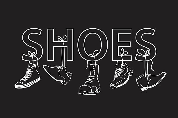 illustrations, cliparts, dessins animés et icônes de image with text and shoes - chaussure