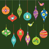 Image with various Christmas ornaments