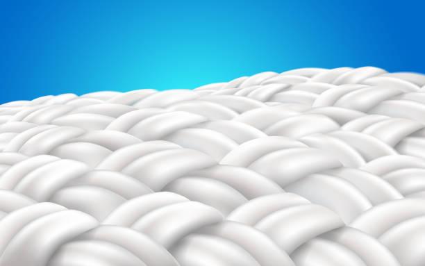 image zoom fabric fiber - предельно крупный план stock illustrations