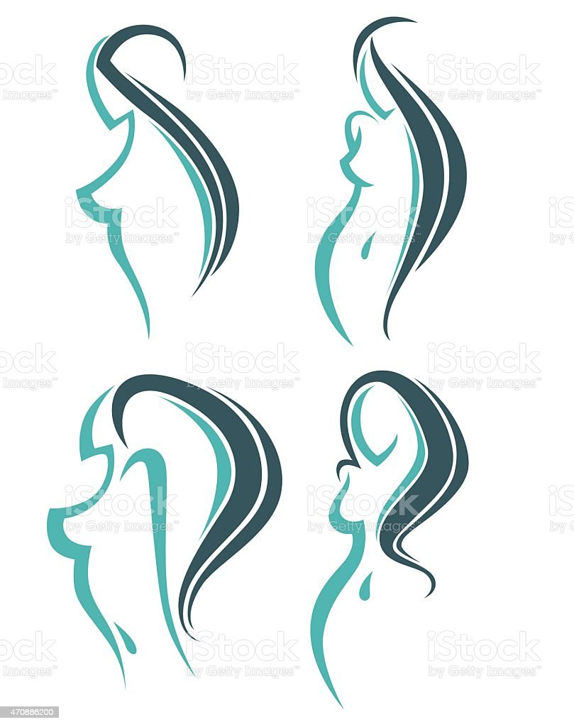 Images And Symbols For Beauty Salon Hairdressers Or Plastic Surgery