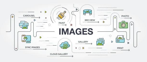 bilder banner und icons - tierfotografie stock-grafiken, -clipart, -cartoons und -symbole