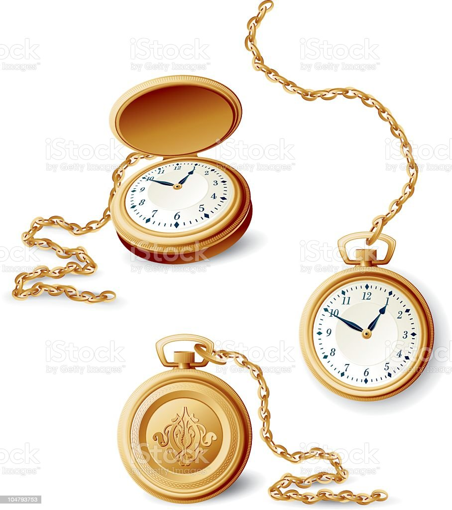 Images of a gold pocket watch in different orientations royalty-free images of a gold pocket watch in different orientations stock vector art & more images of abstract