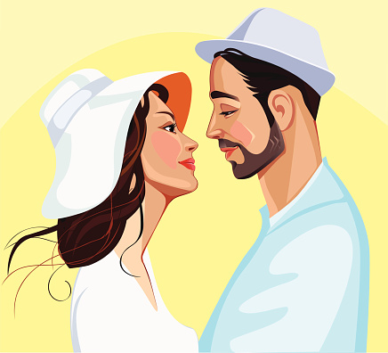 images of men and women in profile in hats
