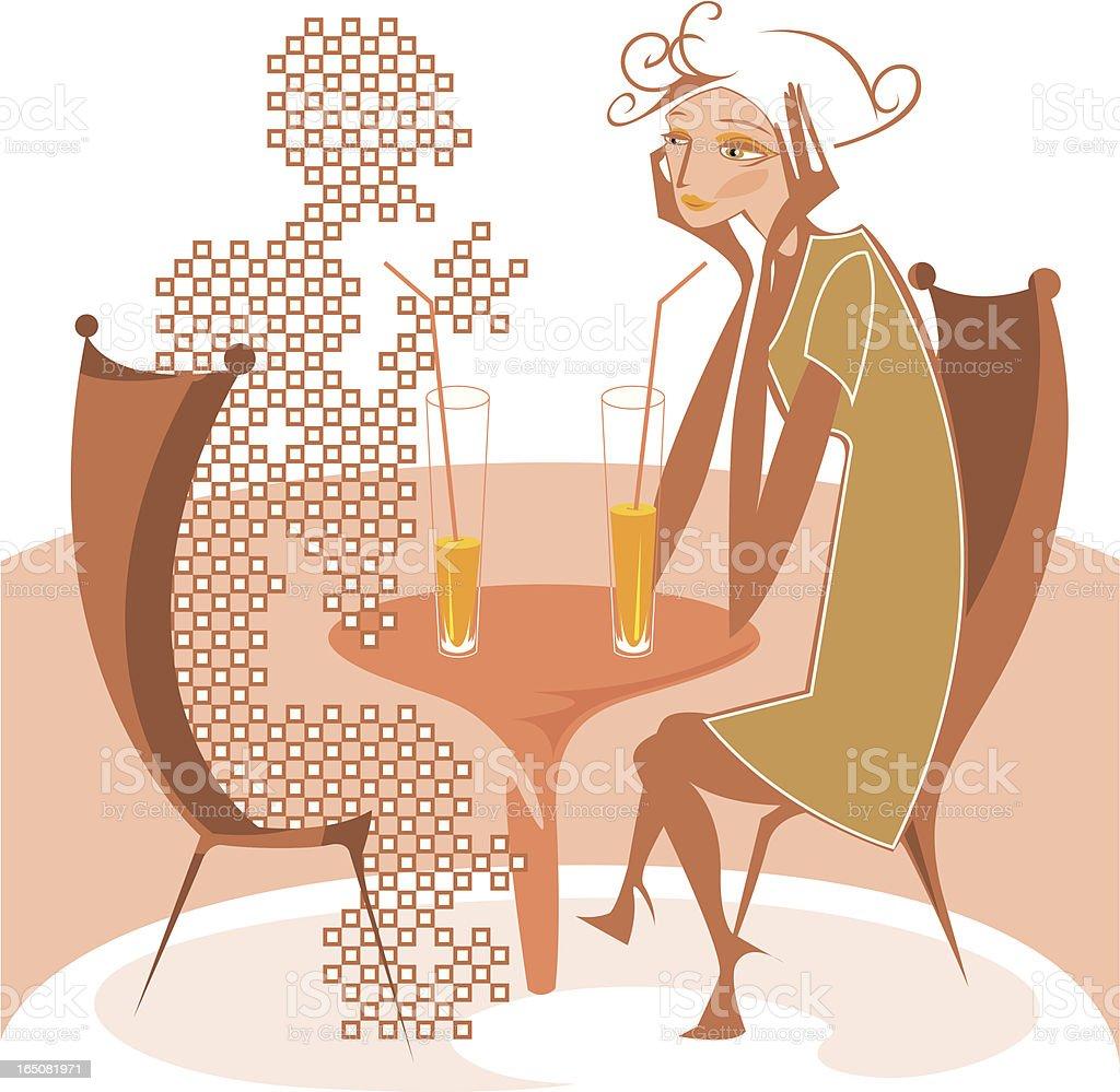 Imaginary friend. vector art illustration