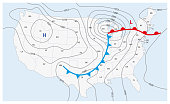 istock Imaginary weather map of the United States of America 953425962