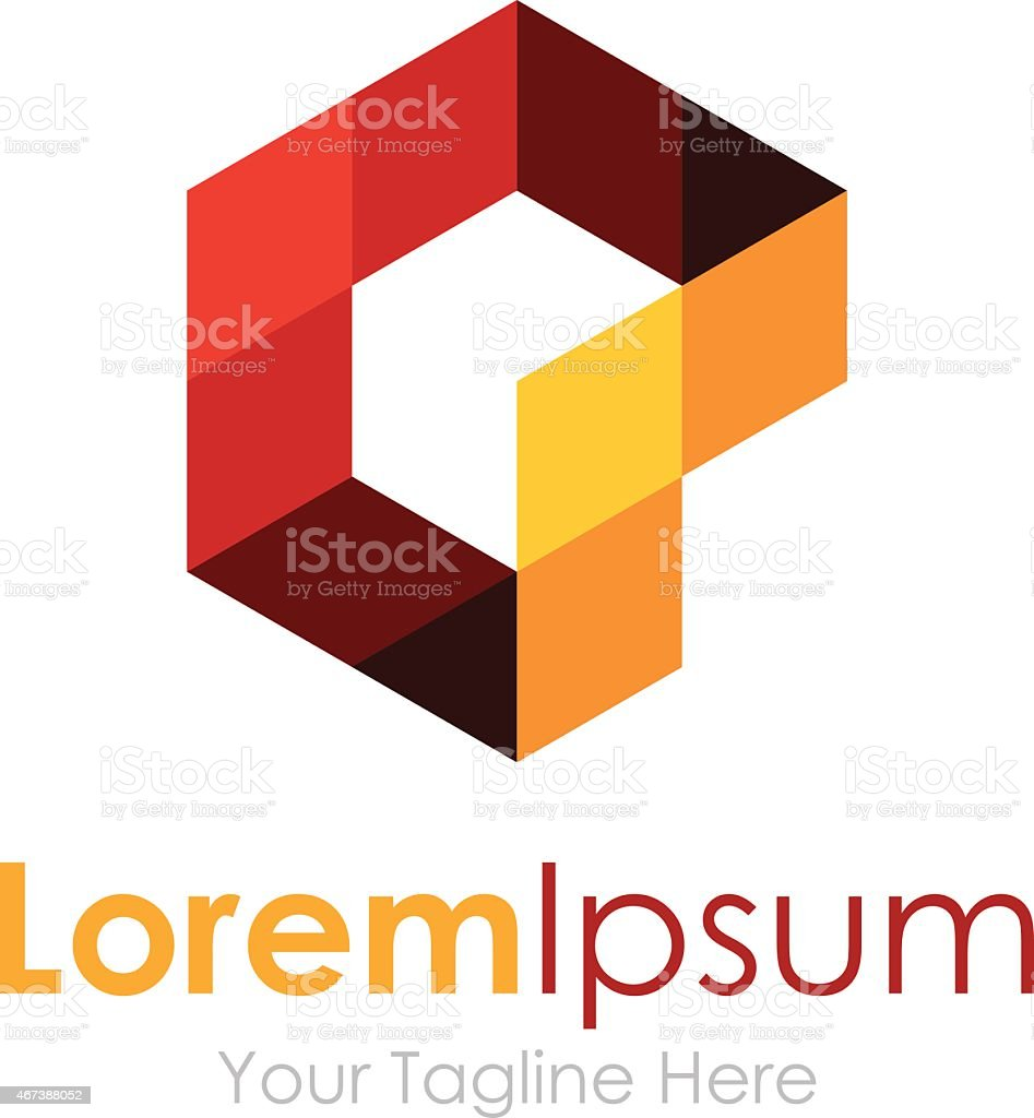 Imagination abstract shape pixel element icon logo for business vector art illustration