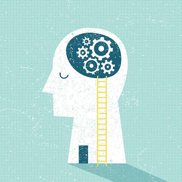 Imagination and Ideas Imagination and Ideas Vector Illustration human head stock illustrations