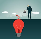 Imagination, Intelligence Tree , Strategy,Solution, Light Bulb, Lamp