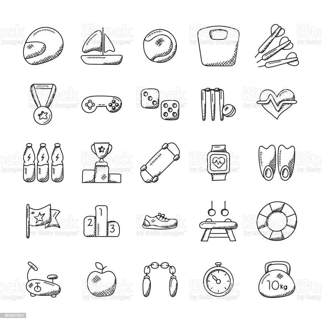 Imaginative Sports Icon Set royalty-free imaginative sports icon set stock vector art & more images of award