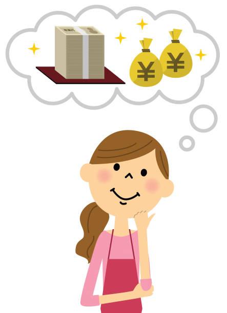 ilustrações de stock, clip art, desenhos animados e ícones de imagine an apron woman - nisa