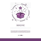 Imagine New Idea Inspiration Creative Process Business Web Banner With Copy Space