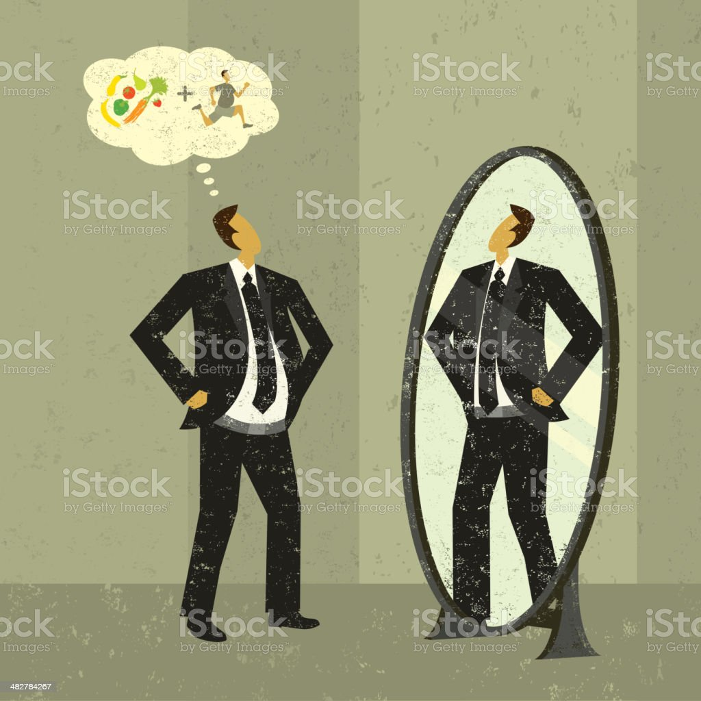 Imagining a slimmer figure royalty-free imagining a slimmer figure stock vector art & more images of adult