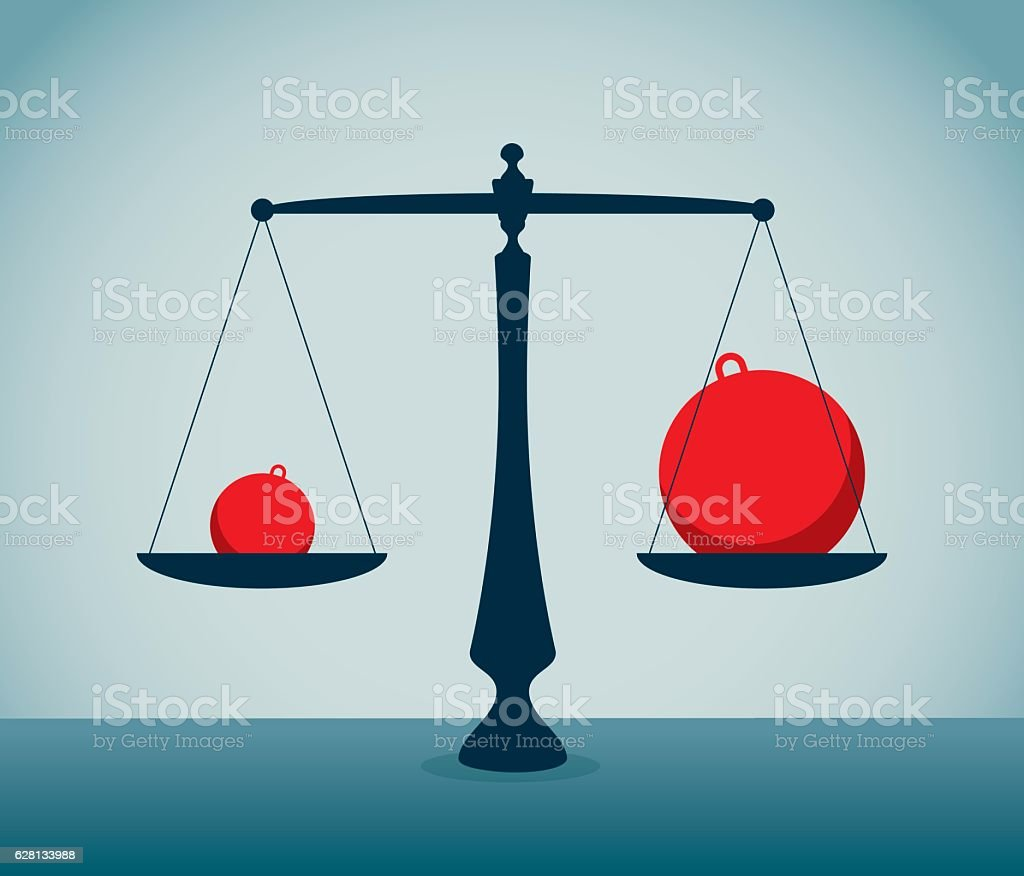Imbalance vector art illustration
