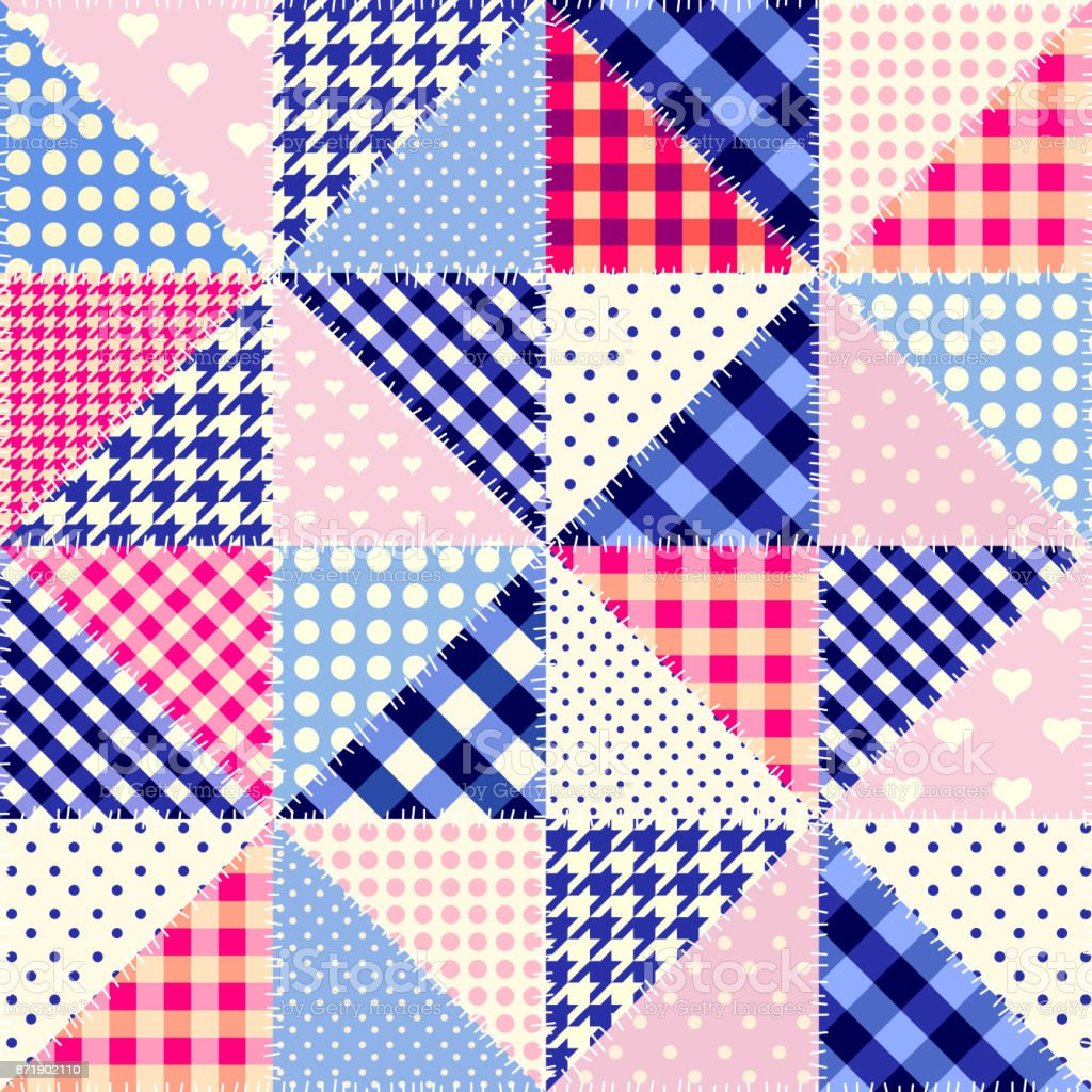 Imitation of a patchwork vector art illustration