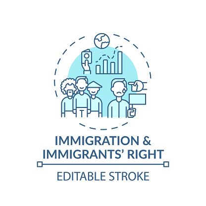 Immigration and immigrants right concept icon