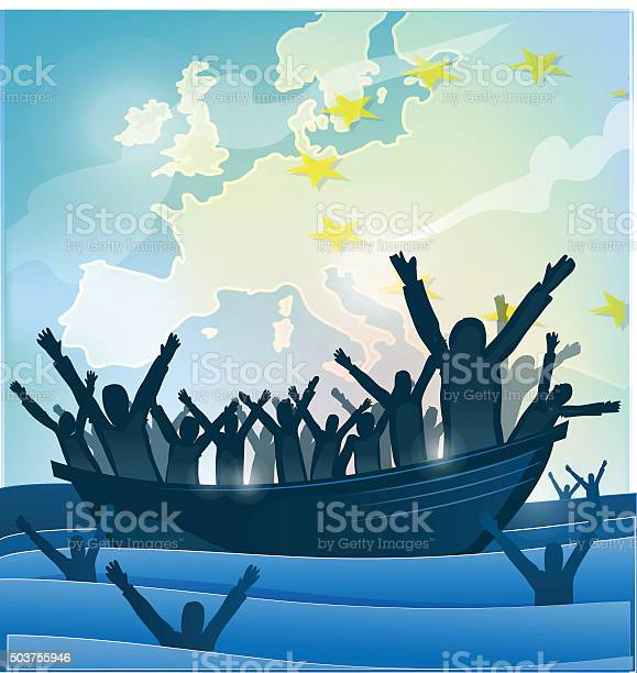Immigration people with the boat on european map vector id503755946?b=1&k=6&m=503755946&s=612x612&h=sl52xe2jwowwt7yfr5jiu6td4ubbtejapvief6tj1j0=