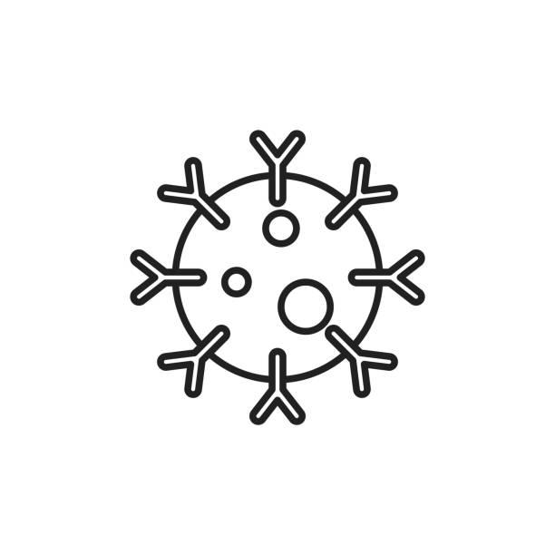 Immune system icon vector illustration antibody stock illustrations