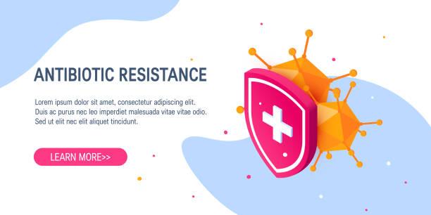 illustrazioni stock, clip art, cartoni animati e icone di tendenza di immune system vector concept, in isometric view - antibiotico