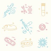 immunology research icons