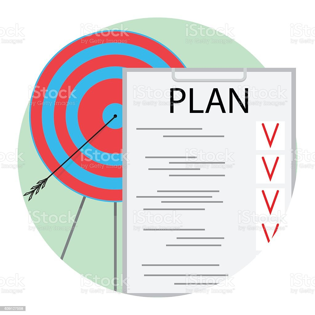Implementation Of Plan Icon Vector Stock Illustration - Download Image Now - iStock