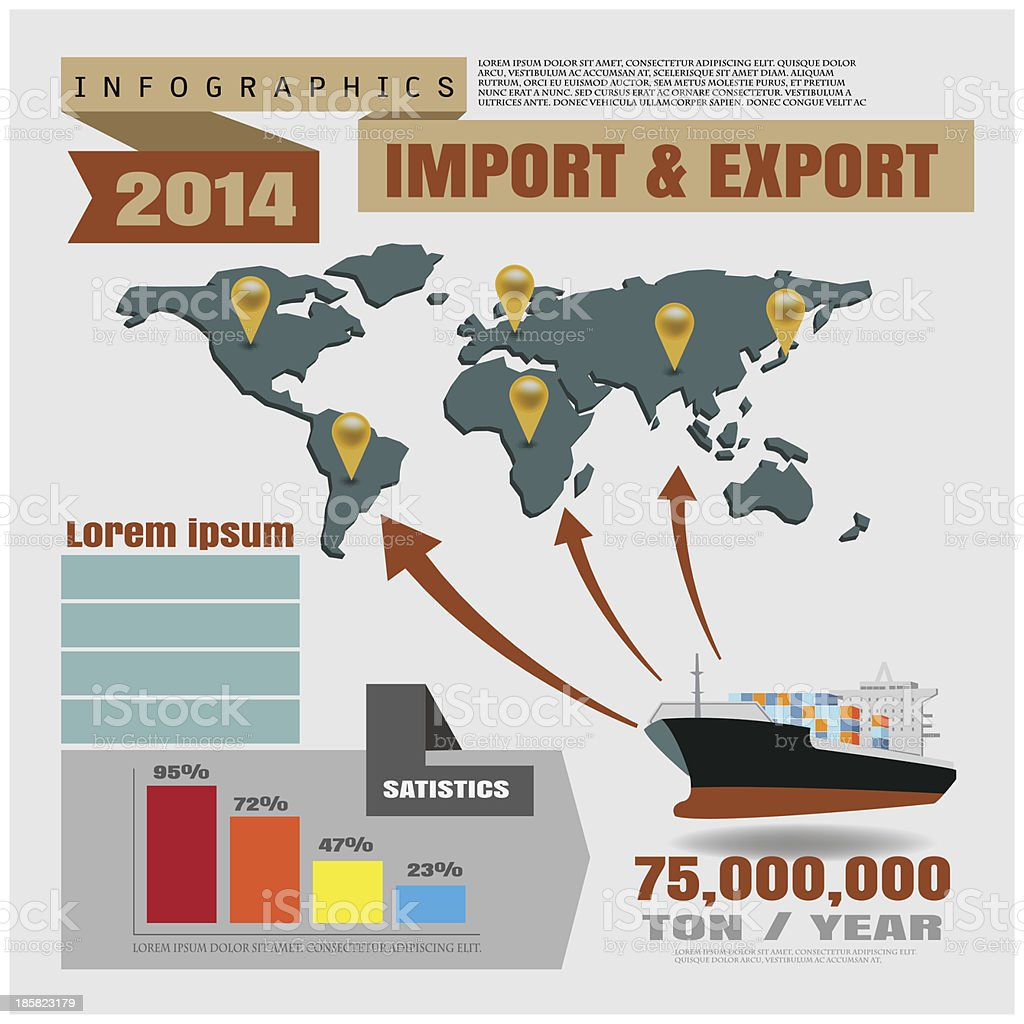 import and export report royalty-free stock vector art