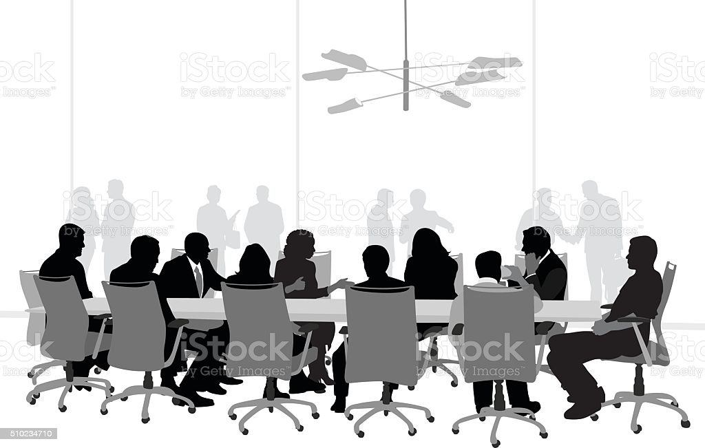 Important Business Meeting vector art illustration