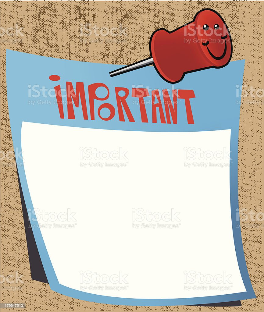 Important note royalty-free stock vector art