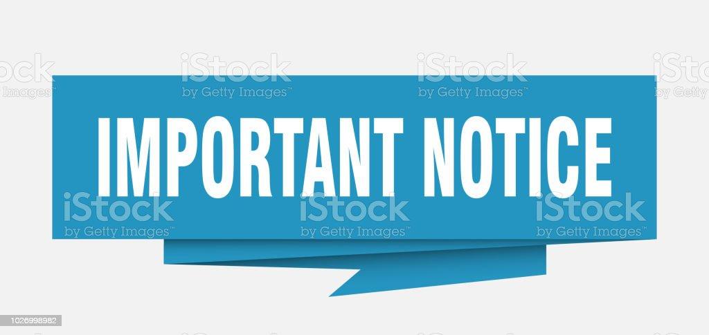 important notice vector art illustration