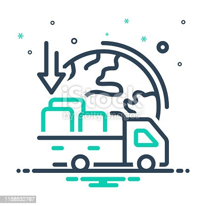 Icon for importers, import goods, shipping, transport, carriage