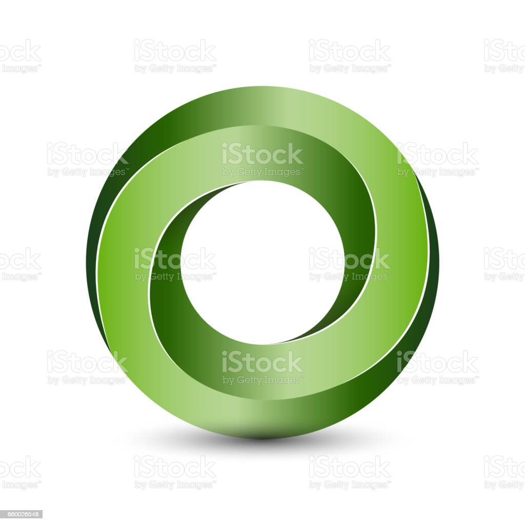 Impossible 3D circle object for  template vector art illustration